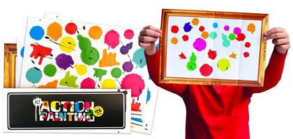 Action painting kit